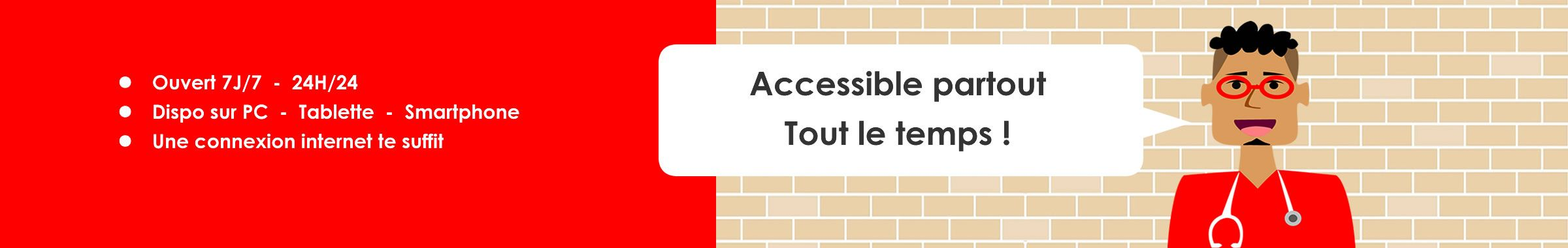 Prepamedic - Accessible 7J/7 - 24H/24 - PC,Tablette, Smartphone